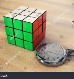 rubik s cube on a wooden table with a stopwatch near it and solving diagram on background [ 1500 x 1101 Pixel ]