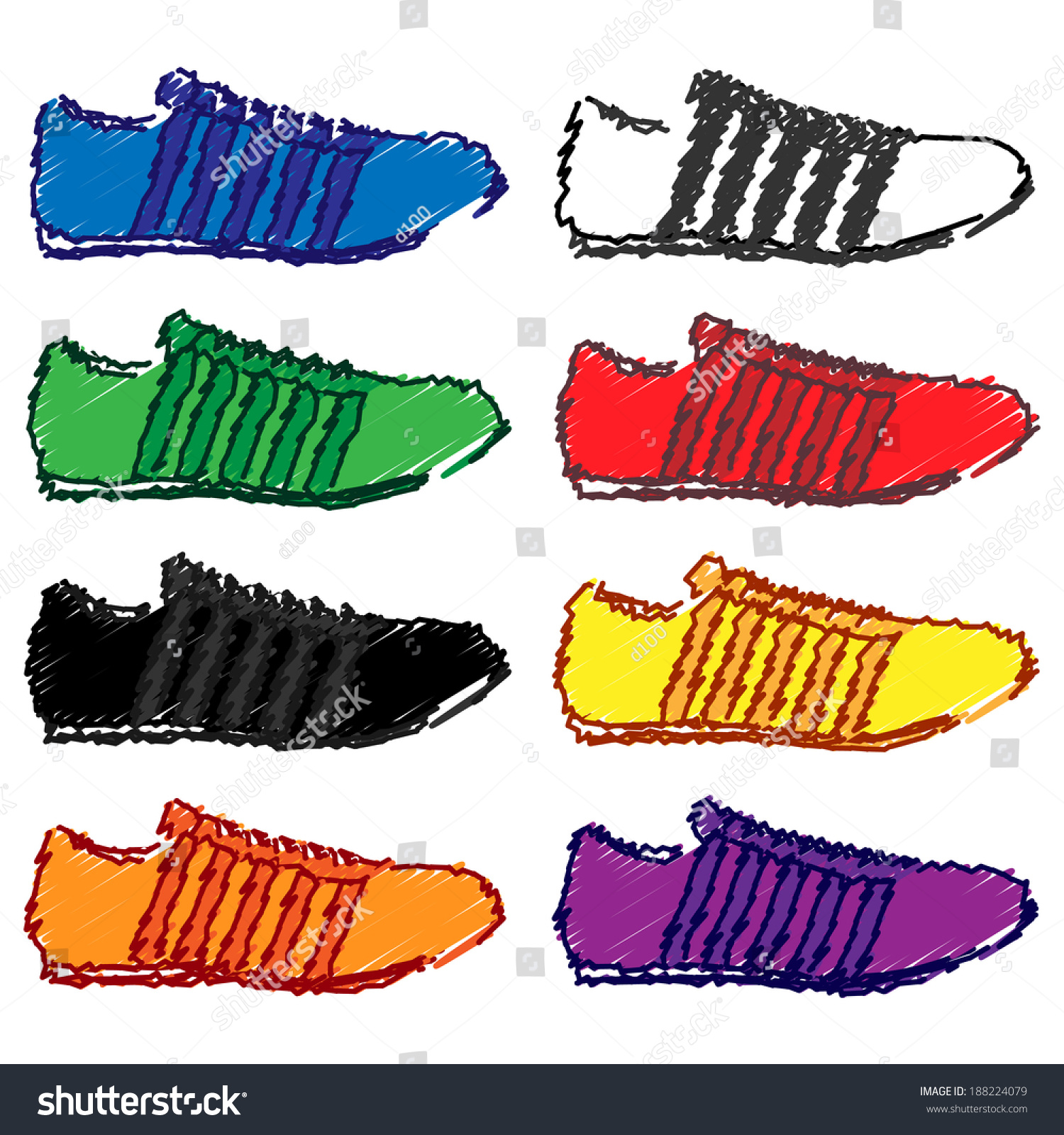running shoes stripes different