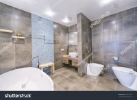 Russia Moscow Region Interior Design Bathroom Stock Photo ...