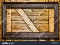 Rustic Wood Frame Against Barn Door Stock Photo 49940467 ...