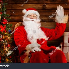 Santa Claus Chair Rocking For Baby Room Sitting On Stock Photo 157228757