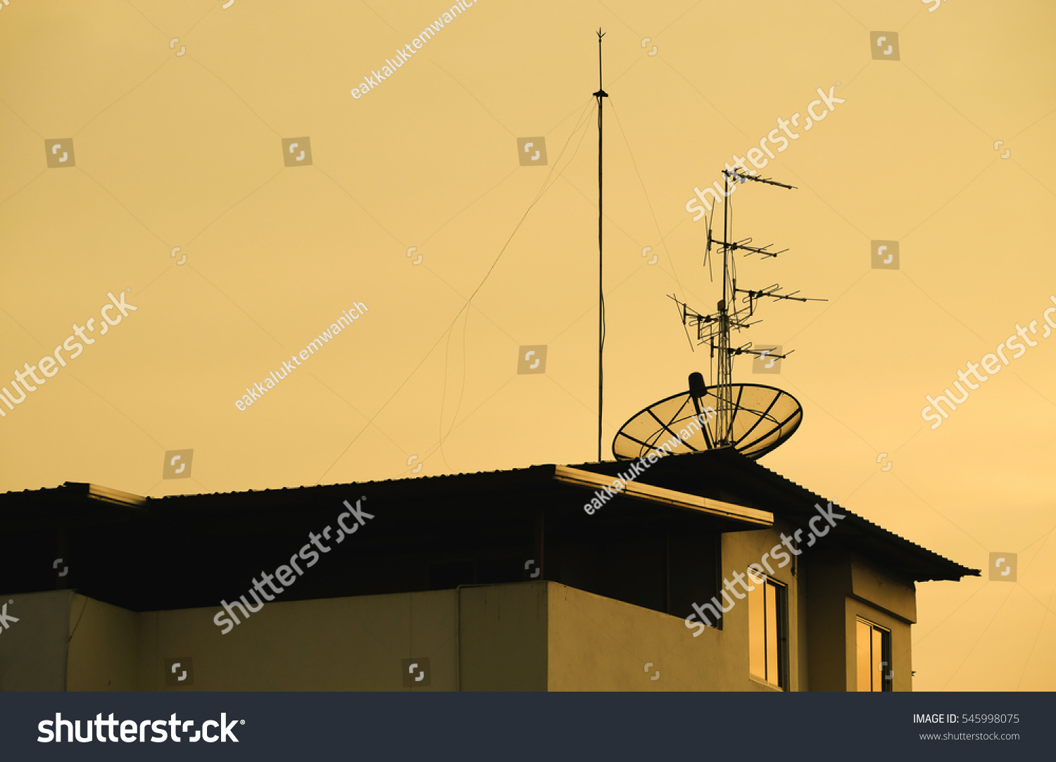 hight resolution of satellite dish sky sunset on the home