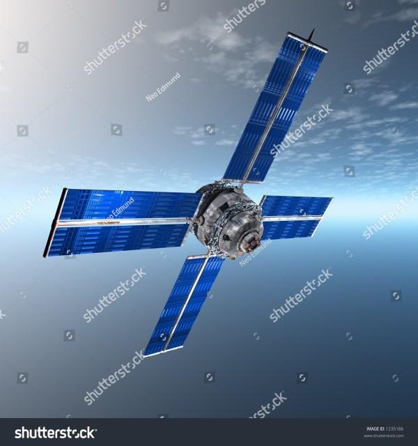 Satellite Sky Stock Illustration 1235186 - Shutterstock