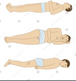 schematic drawing of the positions of the body for a good rest  [ 1332 x 1600 Pixel ]