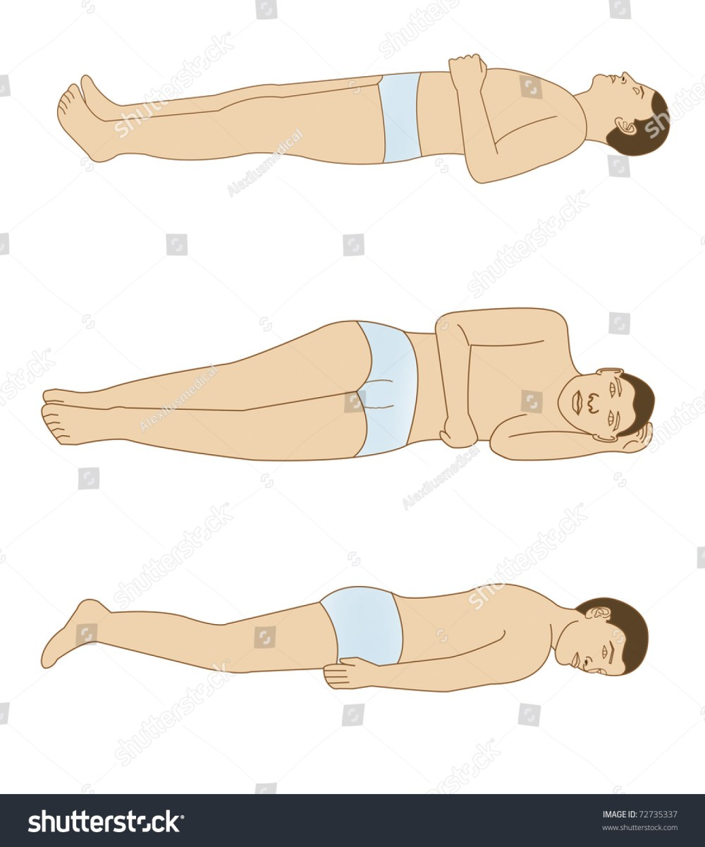 medium resolution of schematic drawing of the positions of the body for a good rest