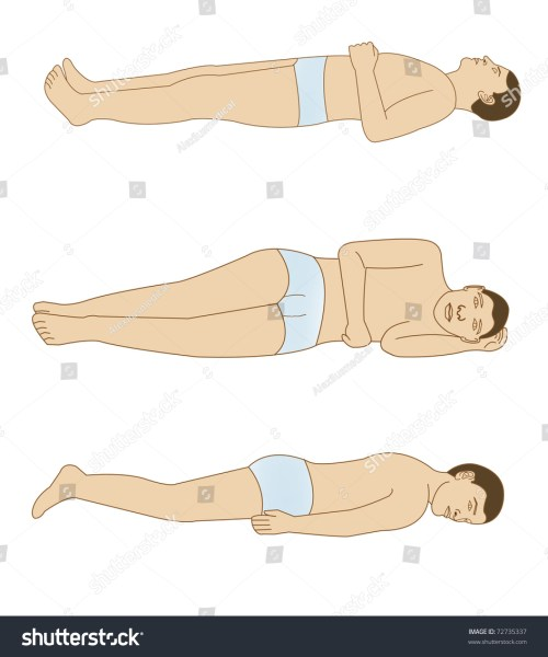 small resolution of schematic drawing of the positions of the body for a good rest
