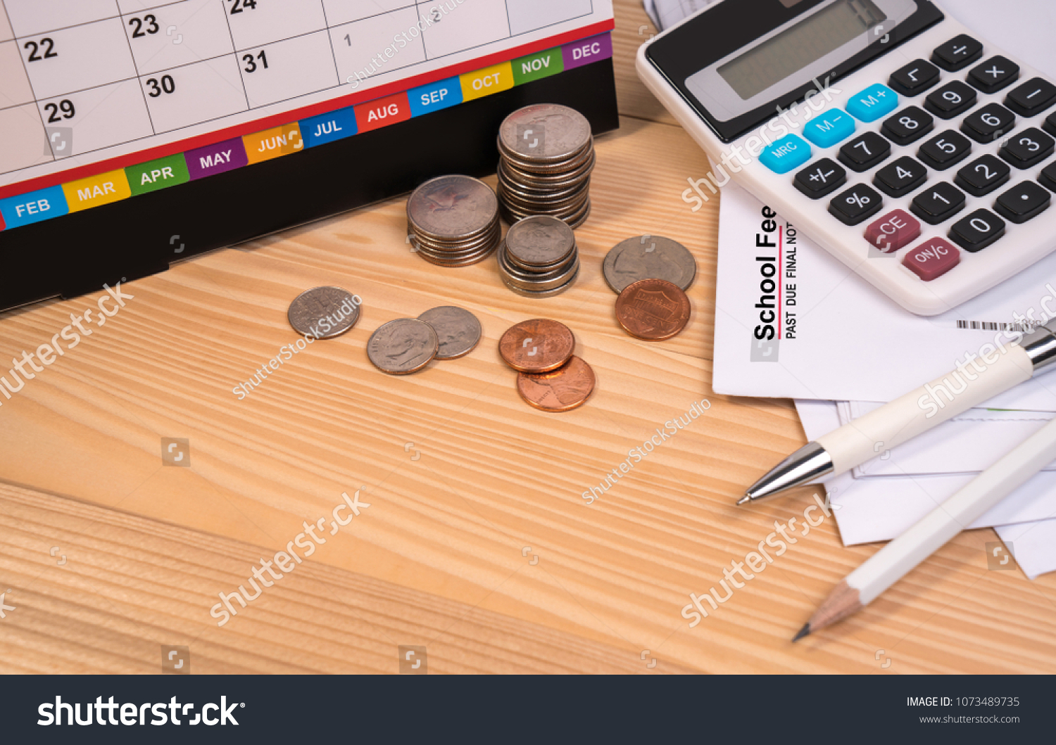 School Fee Past Due Final Notice Stock Photo & Image (Royalty-Free ...