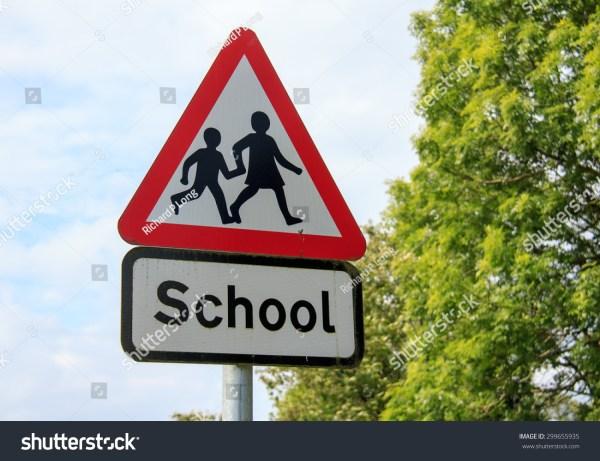 School Sign Stock 299655935 Shutterstock