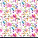 Seamless Floral Pattern Watercolor Floral Background Stock Illustration 1234255375