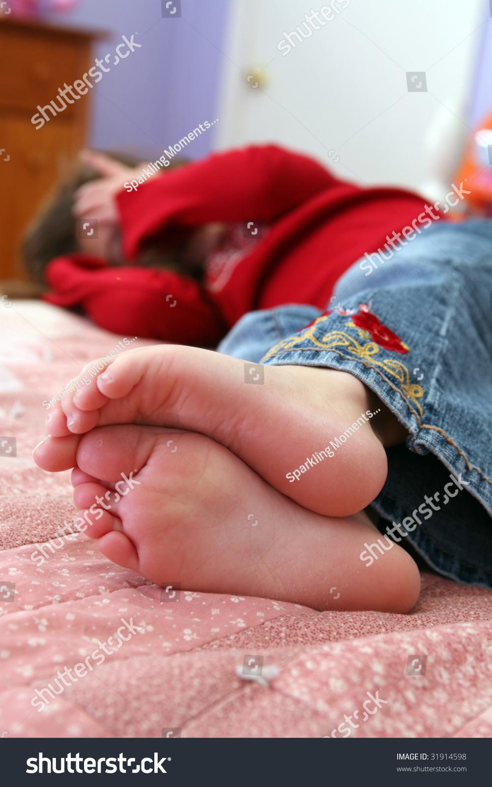Selective Focus Of Little Girl'S Bare Feet Stock Photo 31914598 : Shutterstock
