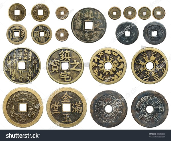 Set Old Chinese Coins Stock Photo 99540086 Shutterstock