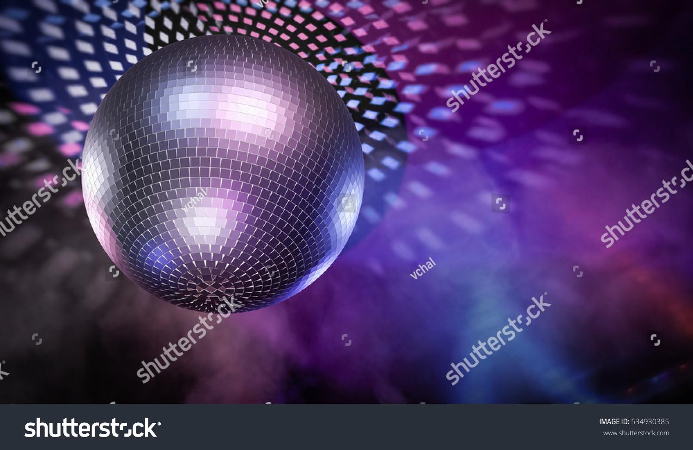 shiny disco ball light reflections background stock illustration