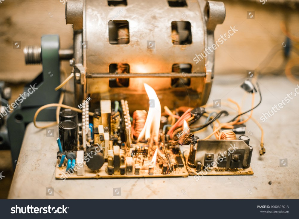 medium resolution of short circuit burned cable fire wiring bad cable electric appliance broken