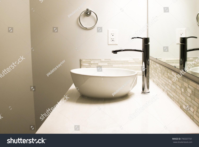 https www shutterstock com image photo side view bathroom sink faucet 790337731