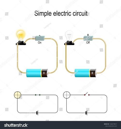 small resolution of simple electric circuit electrical network and lighting lamp switch light bulb wire and battery illustration for physical educational and science use