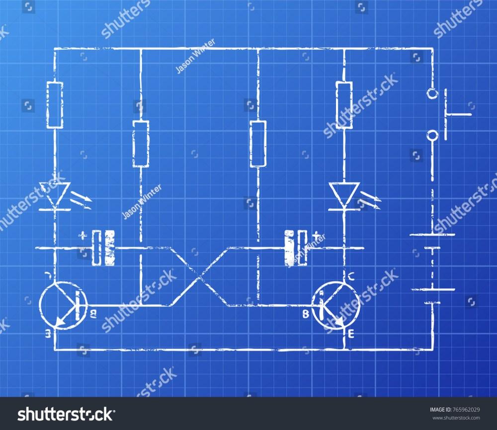 medium resolution of simple flip flop circuit hand drawn on blueprint background