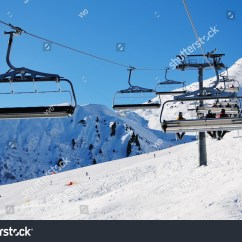 Buy Ski Lift Chair Dining Table Glass Top 6 Chairs Snow Covered High Stock Photo Edit Now 25137211 Mountain In Alpes Mayrhofen Austria
