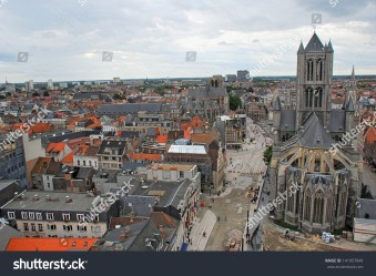 Skyline Panoramic View Medieval Gothic City Stock Photo Edit Now 141957049