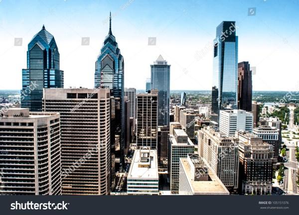 Philadelphia Skyline Aerial View