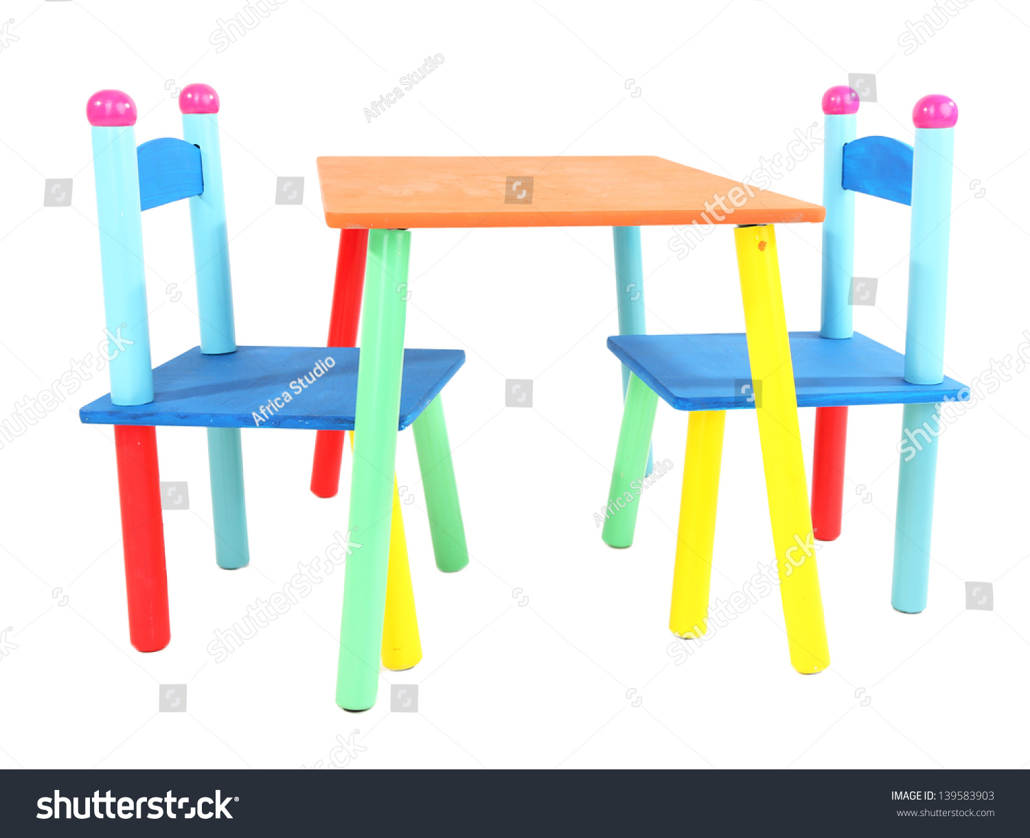 little kid table and chairs best cheap desk chair small colorful kids stock photo
