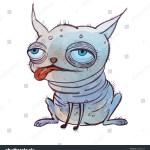 Ilustracoes Stock Imagens E Vetores De Small Ugly Bald Cartoon Dog Big 678818920