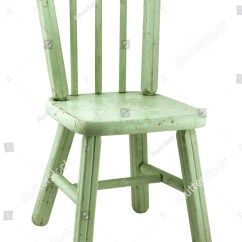 Small Wood Chair Beach Chairs On Wheels Vintage Worn Green Stock Photo 40742821