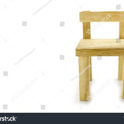 Small Wooden Chair Wood High With Tray Traditional Seat Isolated Over White Background Ez Canvas