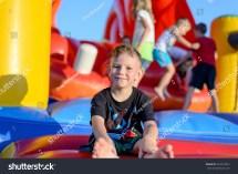 Little Boy Barefoot Playground