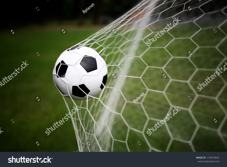 Soccer Ball Goal Stock Photo