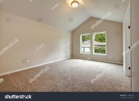 Soft Colors Empty Room Vaulted Ceiling Stock Photo