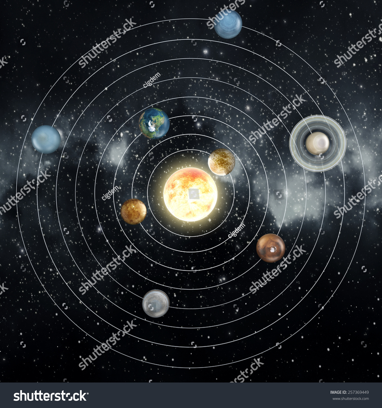 diagram of the planets in order 2002 pontiac montana stereo wiring solar system elements this image stock