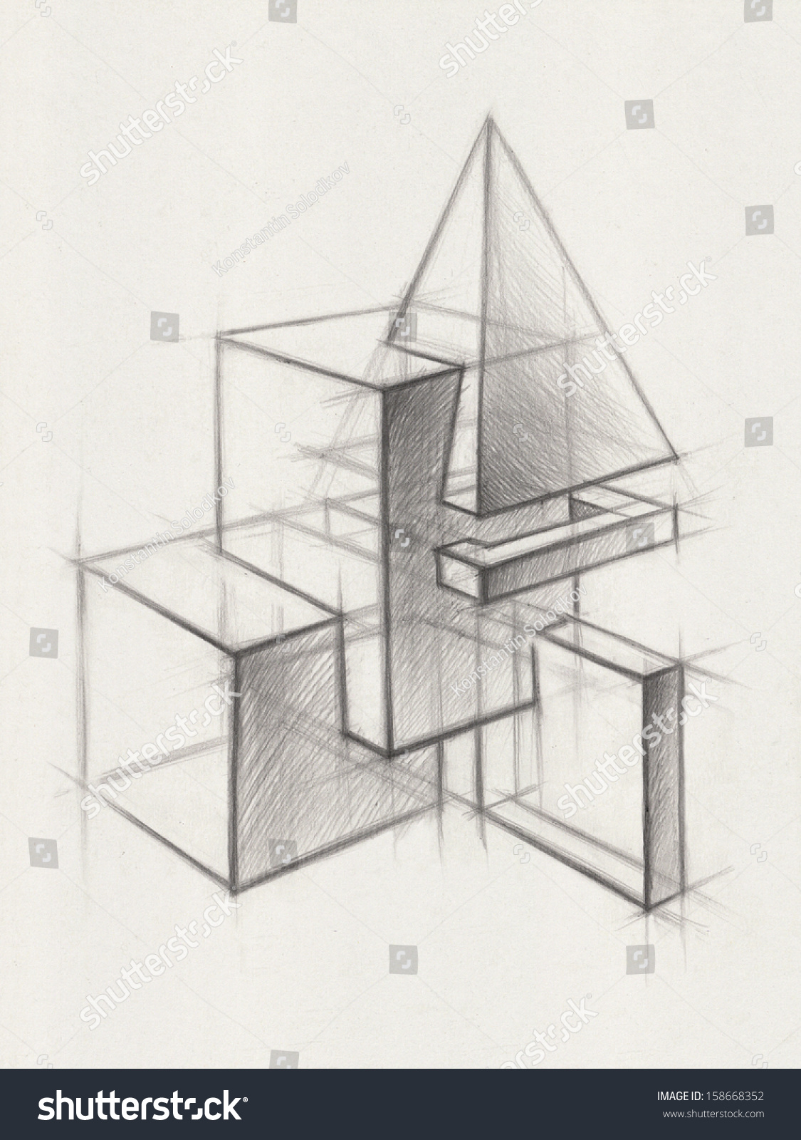 Shading Geometric Shapes Worksheet