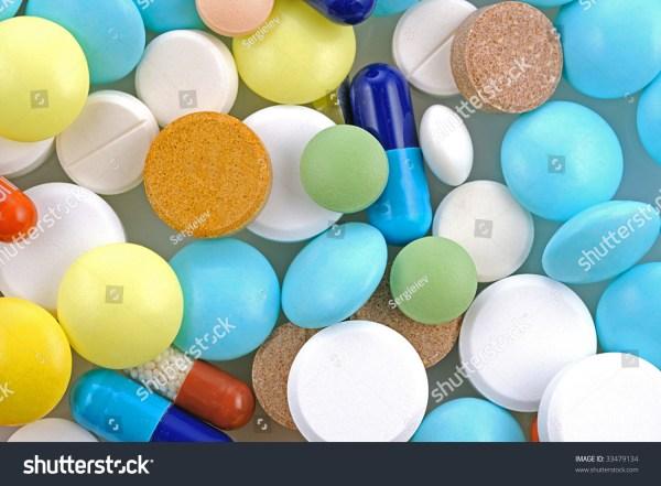 Pills Pharmacy Background Stock