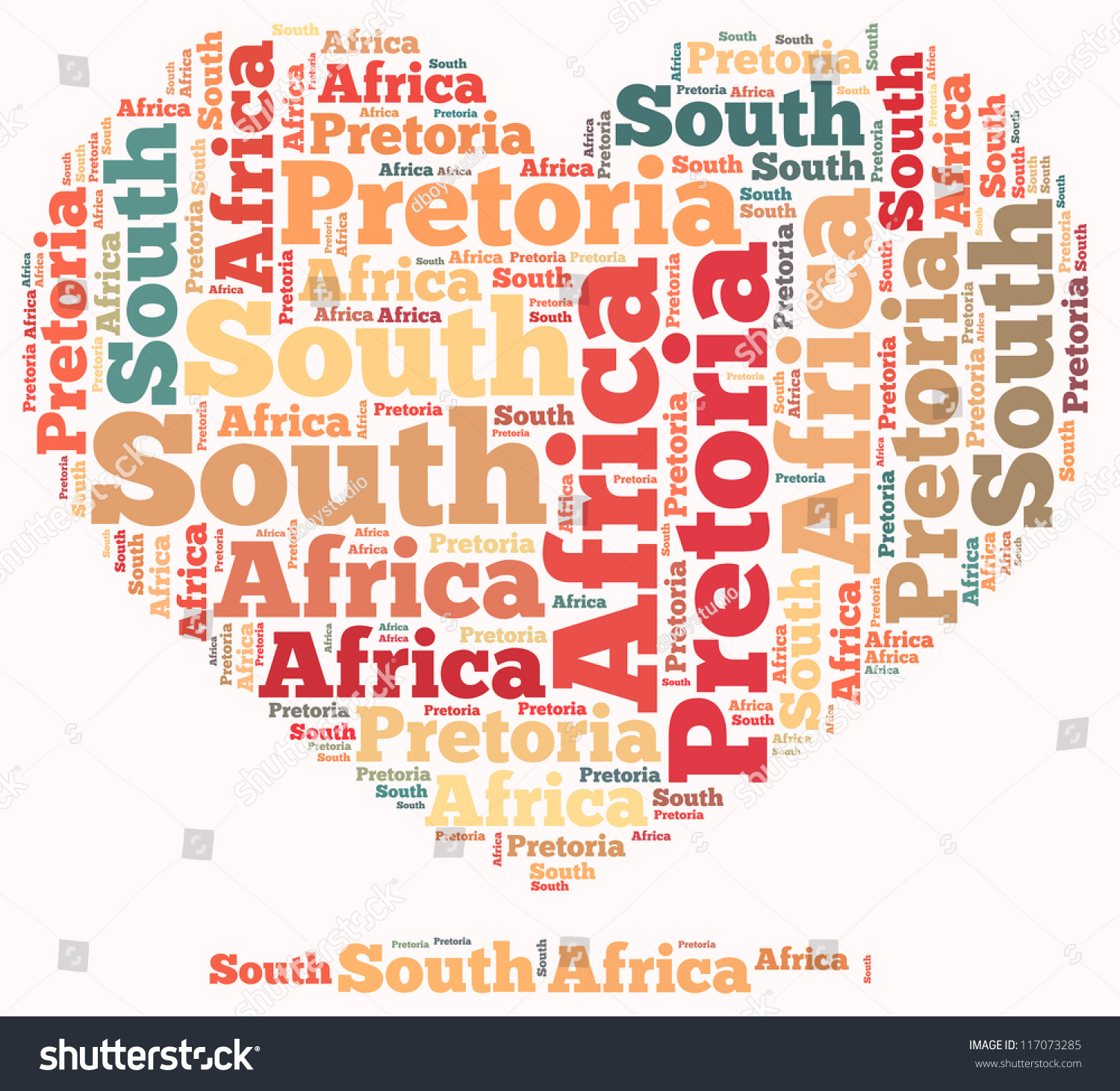 South Africa Info Text Graphics And Arrangement Concept On