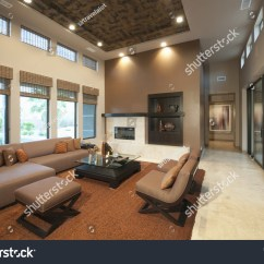 Table Height High Chair Sitting Spacious Living Room Double Ceiling Stock Photo 148011173 - Shutterstock