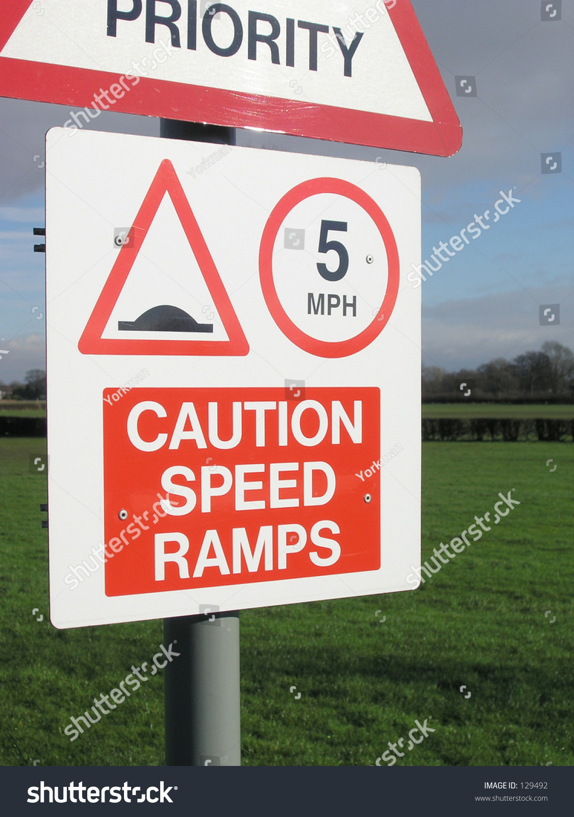 Speed Ramps Sign Stock Photo 129492 : Shutterstock