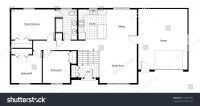 Split Level House Floor Plan Room Stock Illustration