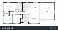 Split Level House Floor Plan Room Stock Illustration ...