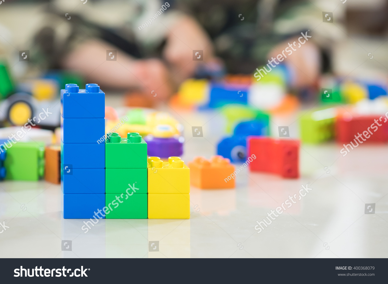 hight resolution of stack of colorful blocks in bar diagram