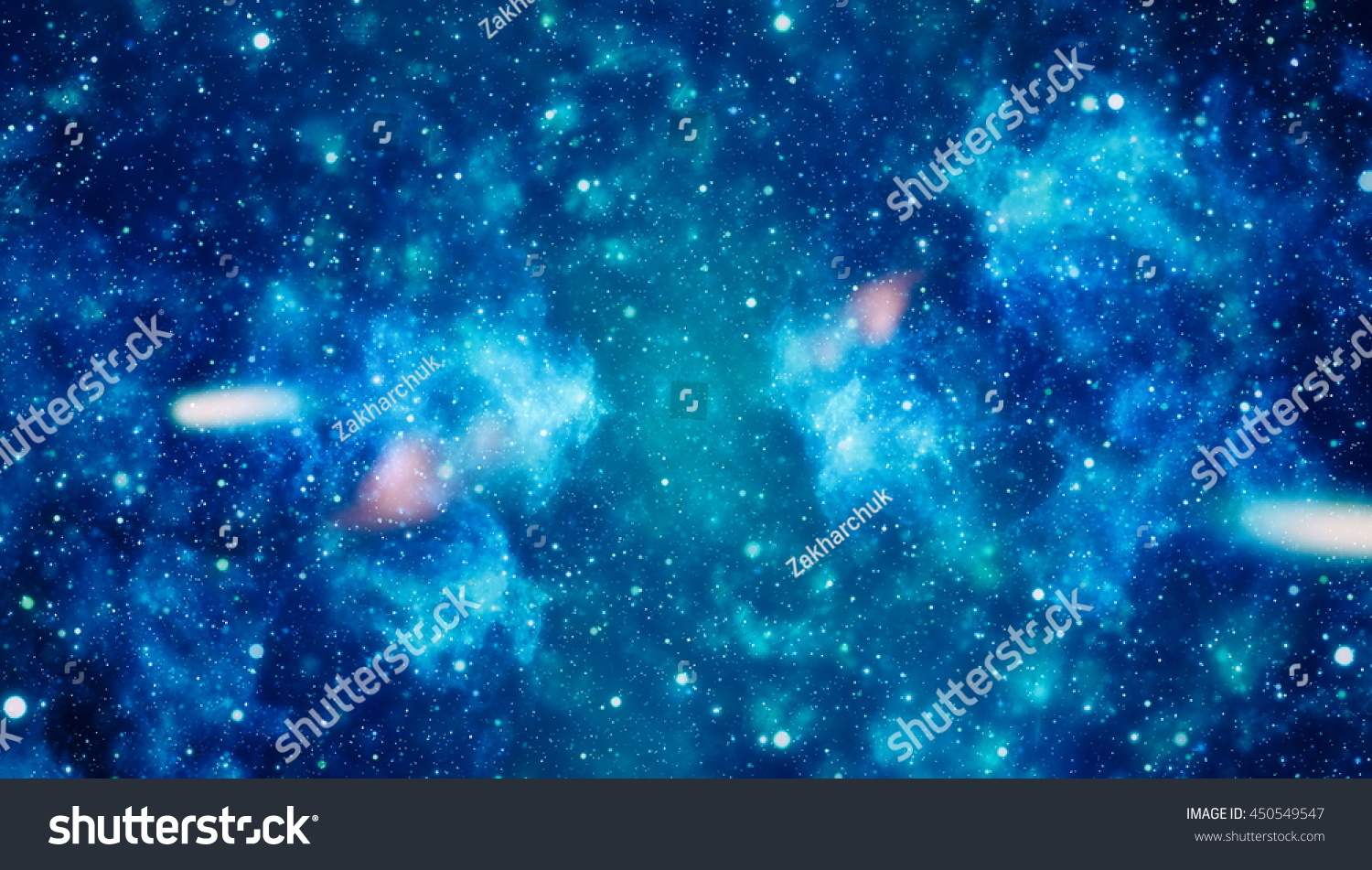 Starry Night Sky Outer Space Background Stock Illustration