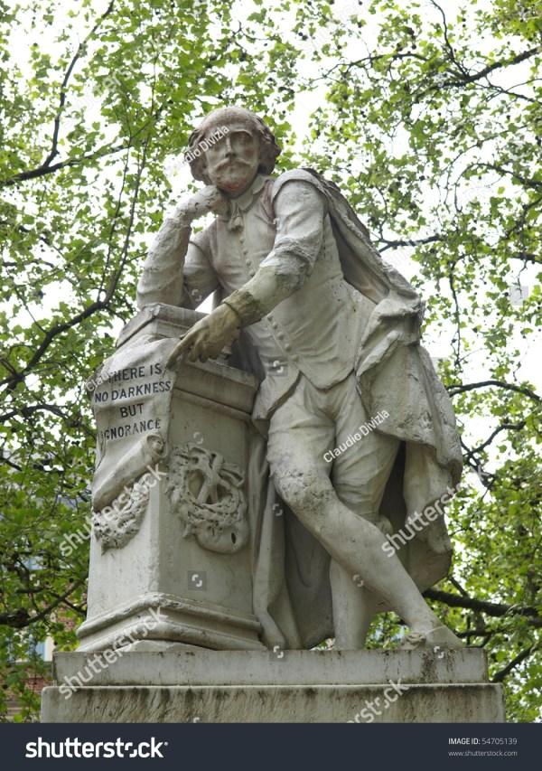 Statue William Shakespeare Year 1874 Leicester Stock 54705139 - Shutterstock