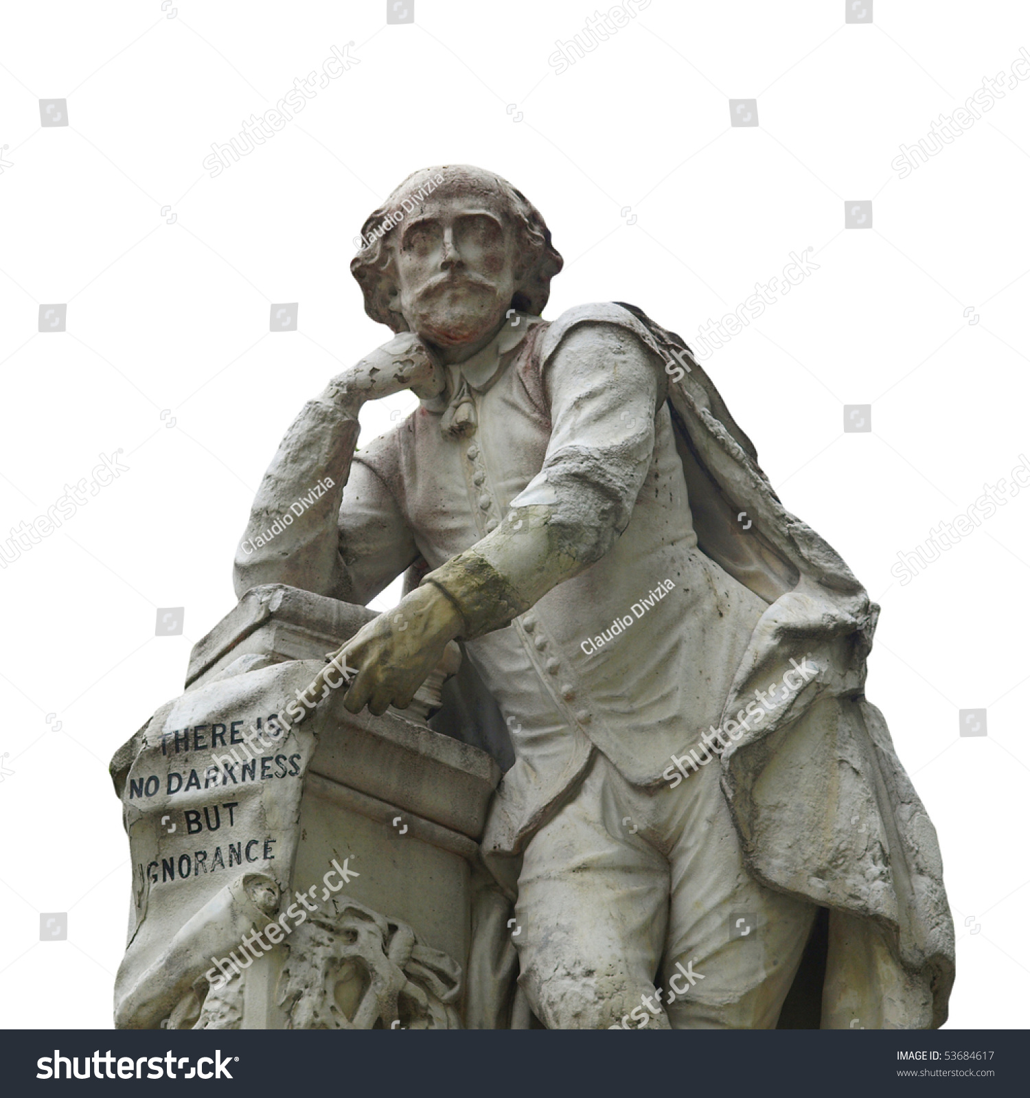 Statue William Shakespeare Year Leicester Stock Photo