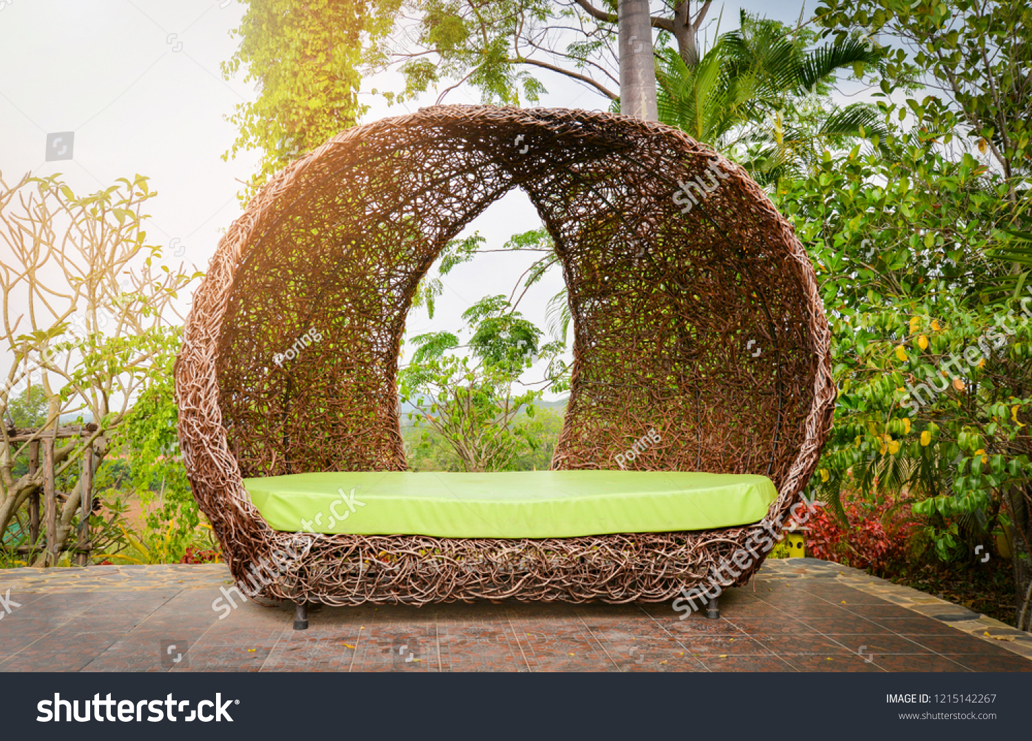 Bird Nest Chair Strange Design Modern Bench Colorful Chair Stock Photo Edit Now