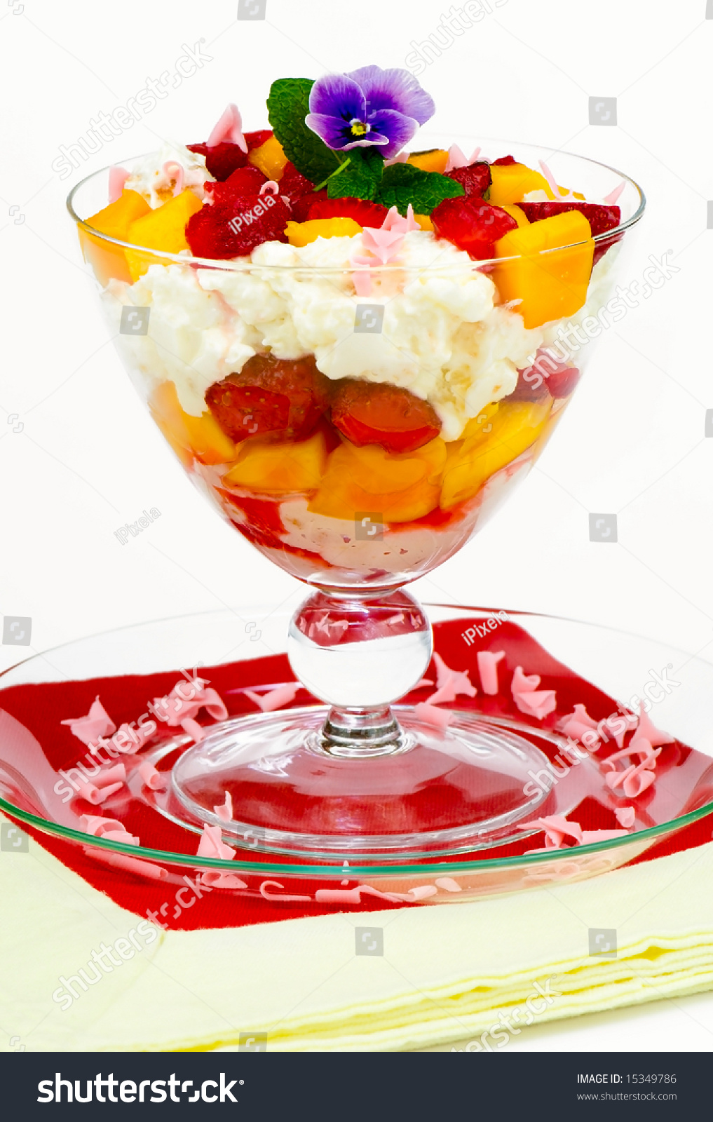 Strawberry And Mango Trifle Dessert Stock Photo 15349786 : Shutterstock
