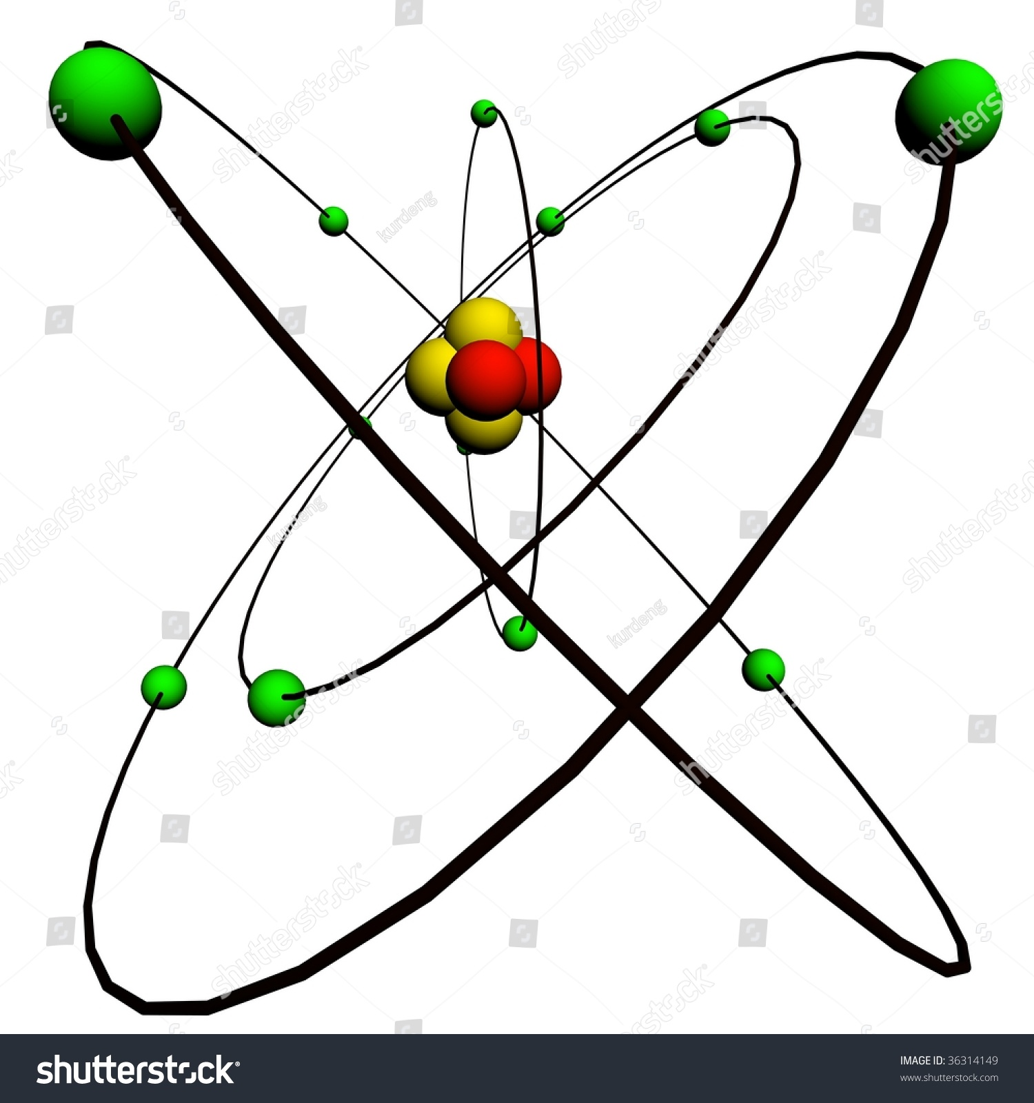 parts of an atom diagram car wiring symbols structure stock photo 36314149 shutterstock
