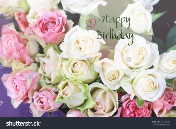 Stylish Gentle Romantic Happy Birthday Card Stock