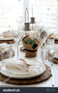 Summer Table Setting For Lunch Stock Photo 110084924 ...