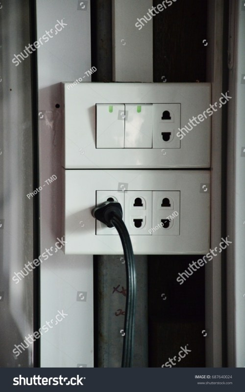 small resolution of switch and plug and electric wire in home