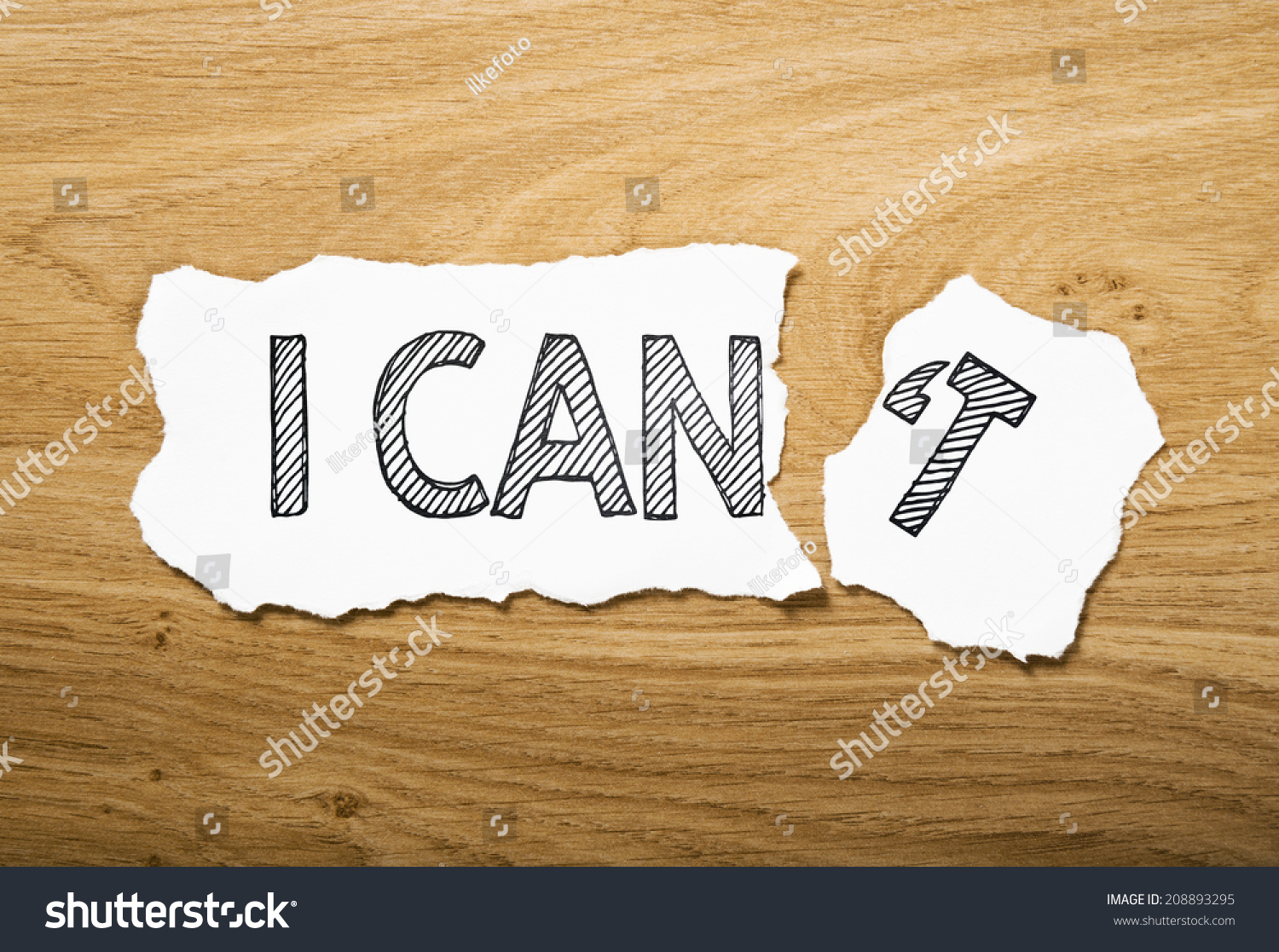 Teared Paper Can Cant Text Stock Photo 208893295