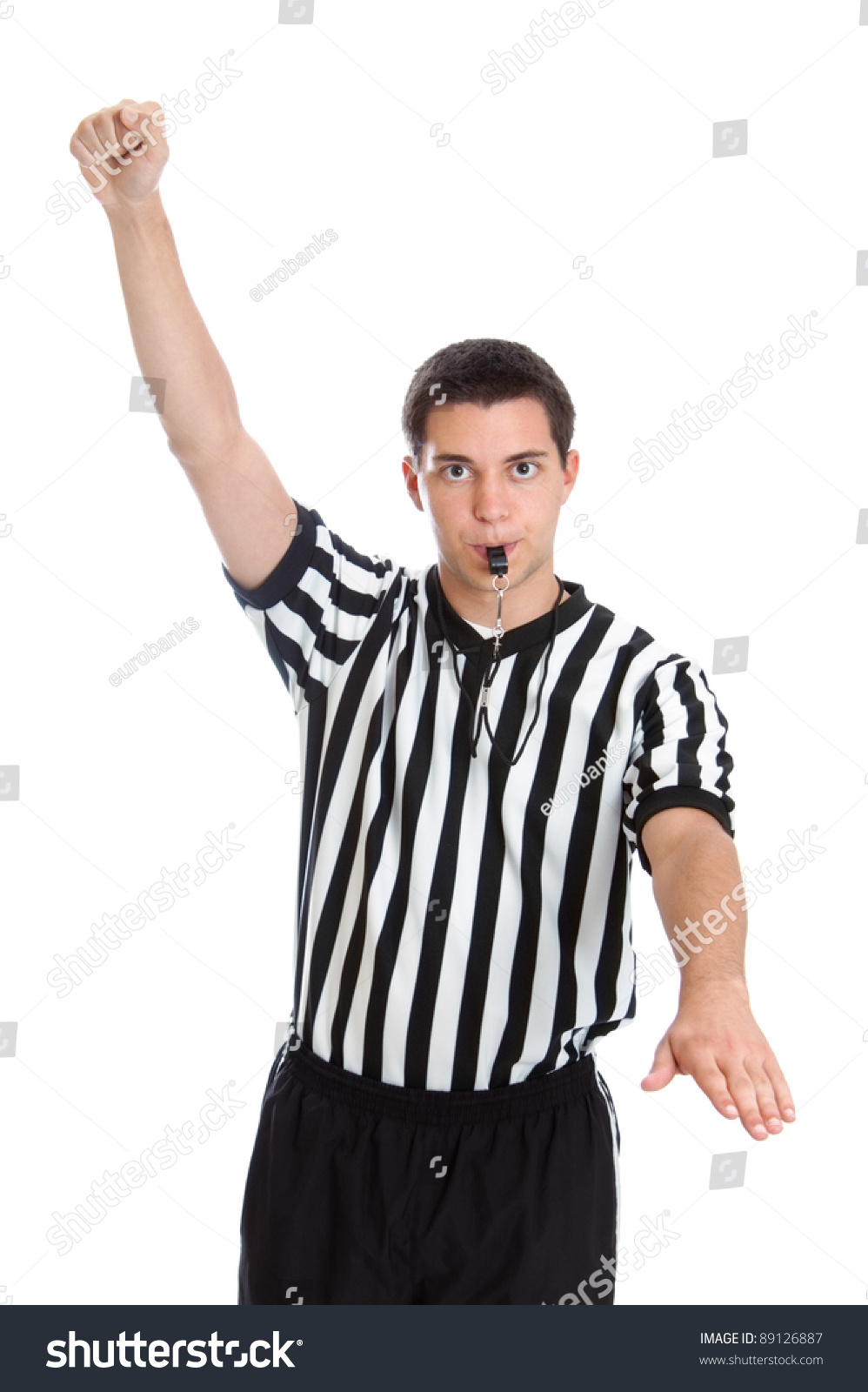 Teenage Basketball Referee Giving Sign For Foul Stock Photo 89126887 : Shutterstock